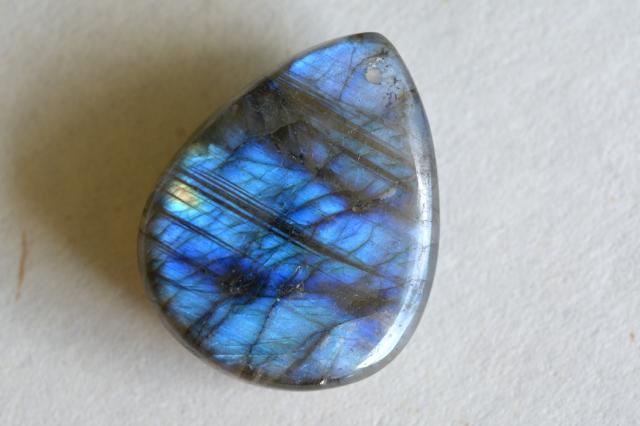 ラブラドライト【63】天然石ルース・カボション(40×25mm)