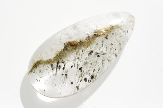 ルチルクォーツ(パイライト入り)【2】天然石ルース・カボション(×mm)