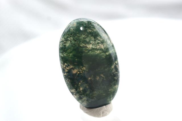 モスアゲート【8】 天然石ルース・カボション(33×22mm)