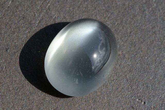 グレームーンストーン・キャッツアイ【21】天然石ルース・カボション (15.5×12mm)