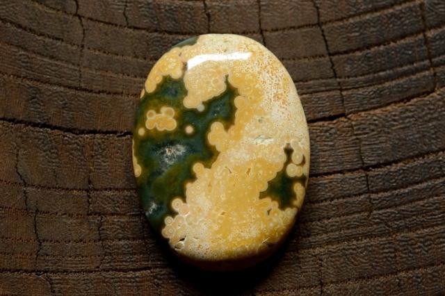 オーシャンジャスパー【8】 天然石ルース・カボション(31.5×23.5mm)