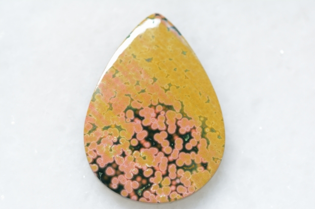 オーシャンジャスパー【35】 天然石ルース・カボション(24.5×30.5mm)