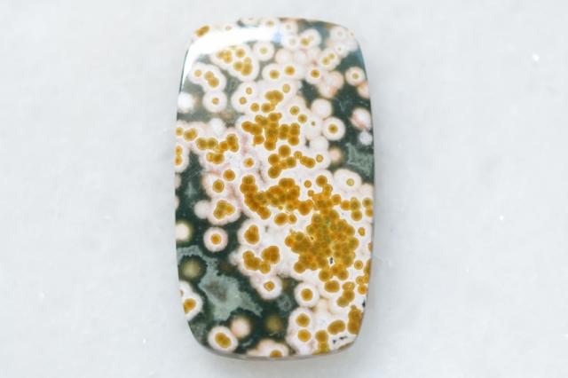 オーシャンジャスパー【41】 天然石ルース・カボション(36.5×21mm)