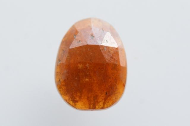 オレンジカイヤナイト【2】天然石ルース・カボション・ローズカット(11×8.5mm)