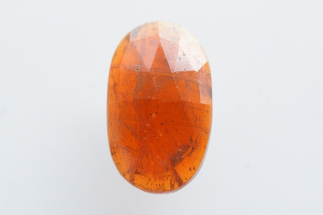 オレンジカイヤナイト【3】天然石ルース・カボション・ローズカット(15×9mm)