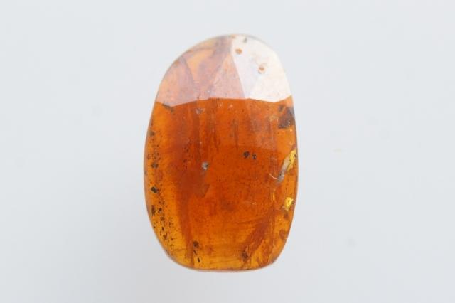 オレンジカイヤナイト【4】天然石ルース・カボション・ローズカット(13×8mm)