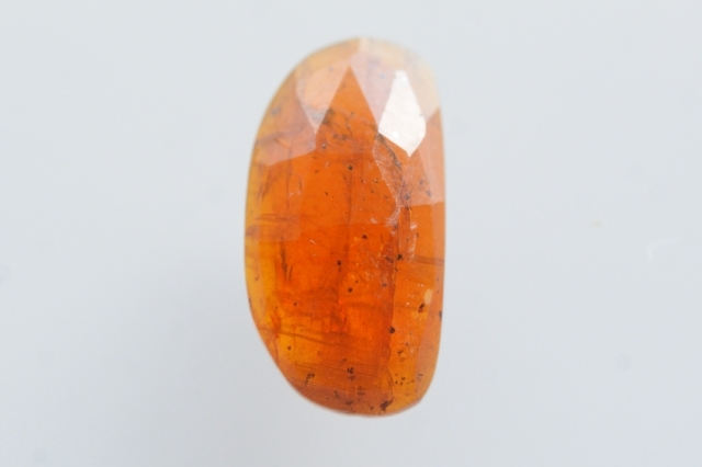 オレンジカイヤナイト【8】天然石ルース・カボション・ローズカット(13×7mm)