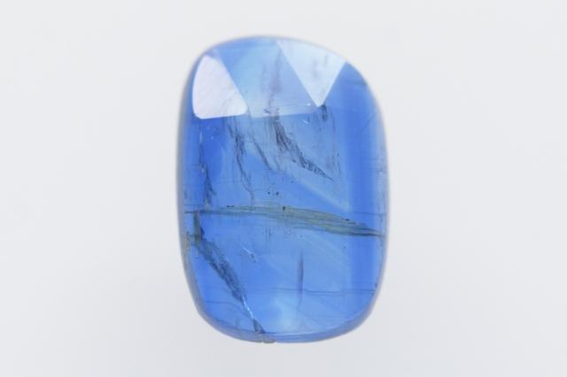 カイヤナイト(ネパール産)【44】 天然石ルース・カボション・ローズカット(11×7.5mm)