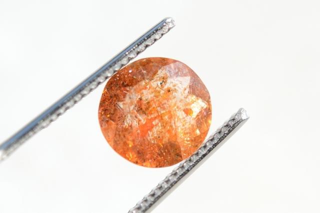 オレゴンサンストーン【4】天然石ルース・カボション (9×9mm)