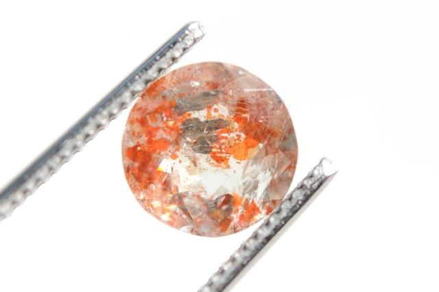 オレゴンサンストーン【5】天然石ルース・カボション (8.5×8.5mm)