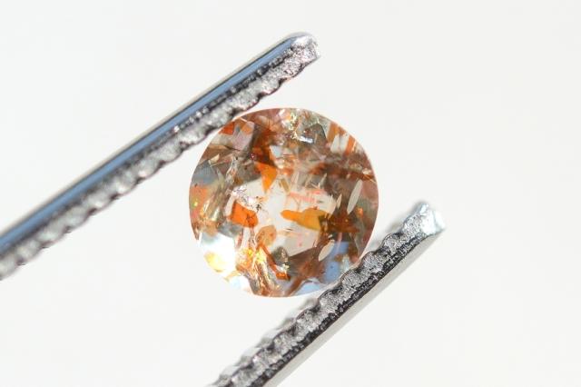 オレゴンサンストーン【6】天然石ルース・カボション (5.3×5.3mm)