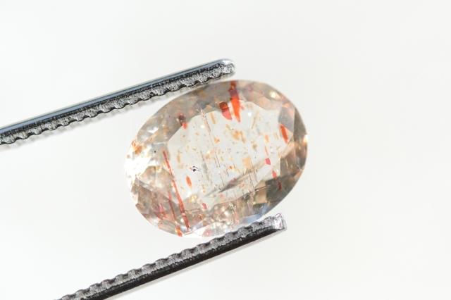 オレゴンサンストーン【11】天然石ルース・カボション (10.5×8mm)