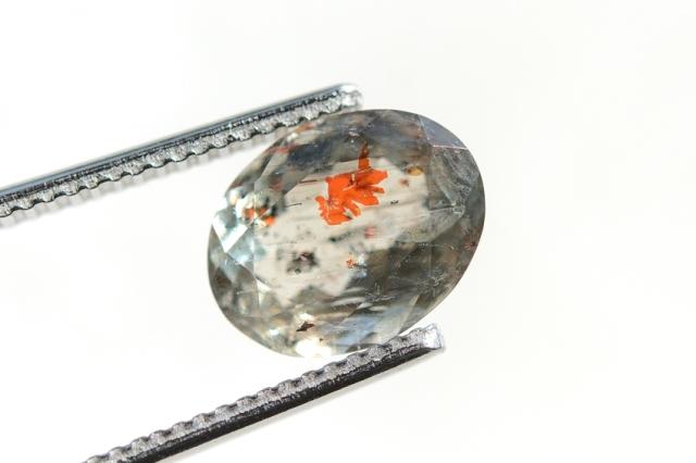 オレゴンサンストーン【12】天然石ルース・カボション (10.5×8mm)
