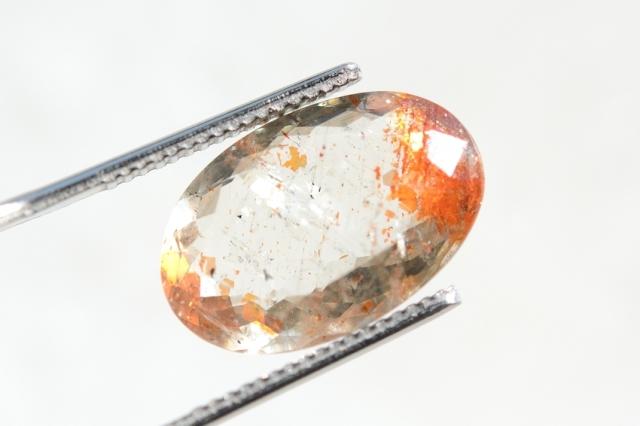 オレゴンサンストーン【16】天然石ルース・カボション (16.5×11mm)