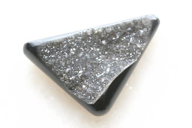 ブラックオニキス・ドゥルージー【3】ルース・カボション(43.5×27.5mm)