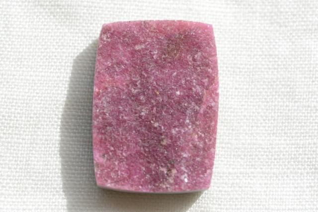 ピンクコバルトカルサイト(ドゥルージー)【10】天然石ルース・カボション(32×23mm)