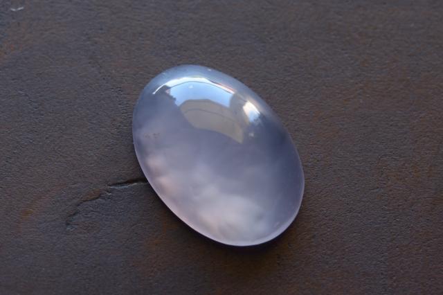 パープルカルセドニー【13】天然石ルース・カボション(20.5×12.5mm)