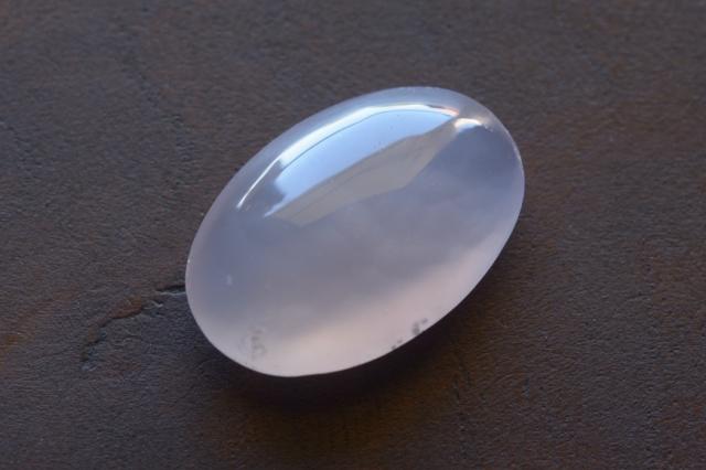 パープルカルセドニー【14】天然石ルース・カボション(19.5×13mm)