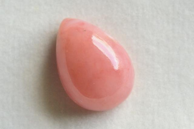 ピンクオパール【11】天然石ルース・カボション(47×17mm)
