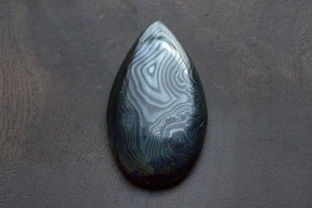 サイロメレーン【1】天然石ルース・カボション(32×19mm)