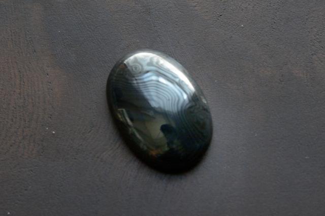 サイロメレーン【5】天然石ルース・カボション(25×17.5mm)