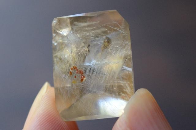 クォーツインクォーツ(貫入水晶)【15】天然石ルース・カボション(20×15.5mm)