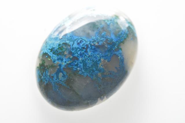 クォンタムクアトロシリカ【2】天然石ルース・カボション(47.5×23mm)