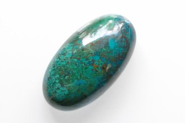 クリソコラ 【6】天然石ルース (30.5×17mm)