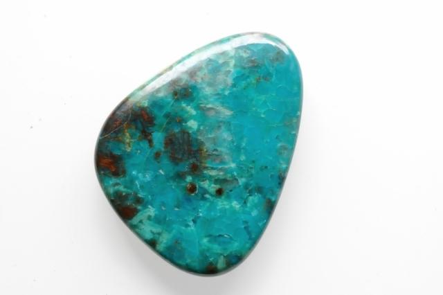 クリソコラ 【10】天然石ルース (42.5×34.5mm)