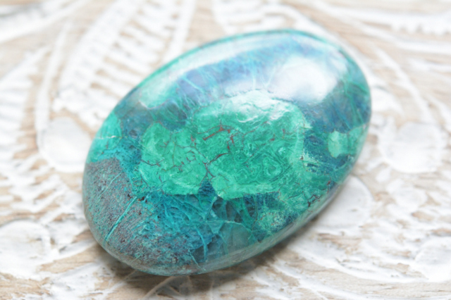 クリソコラ 【18】天然石ルース (27.5×22mm)