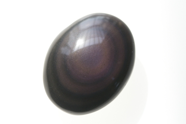 レインボーオブシディアン【3】天然石ルース・カボション(34×23.5mm)