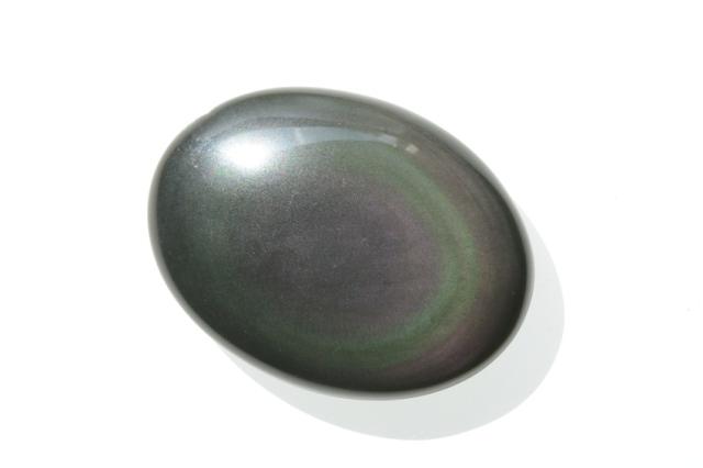 レインボーオブシディアン【5】天然石ルース・カボション(32×21.5mm)