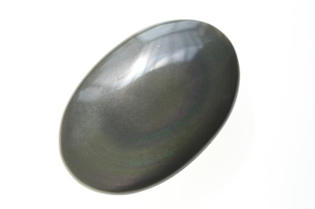 レインボーオブシディアン【6】天然石ルース・カボション(33.5×20.5mm)