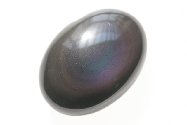 レインボーオブシディアン【7】天然石ルース・カボション(30×19mm)
