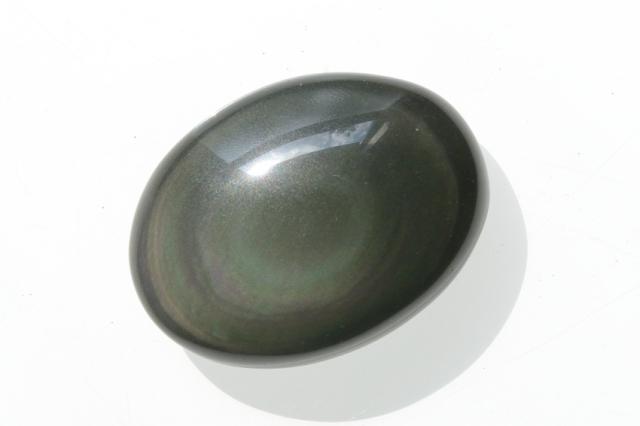 レインボーオブシディアン【11】天然石ルース・カボション(31.5×23.5mm)
