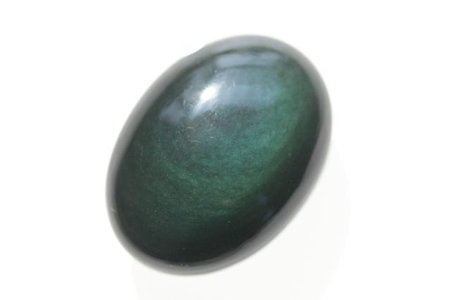 レインボーオブシディアン【14】天然石ルース・カボション(27×19.5mm)