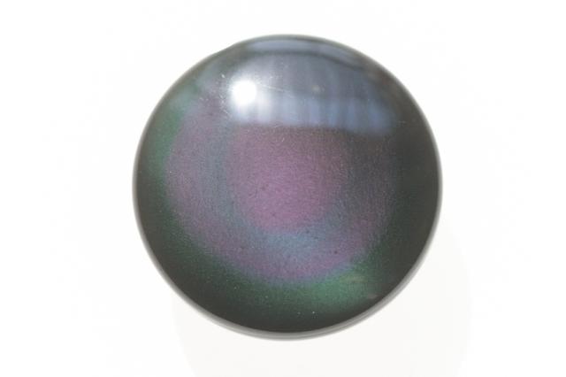 レインボーオブシディアン【16】天然石ルース・カボション(22×22mm)