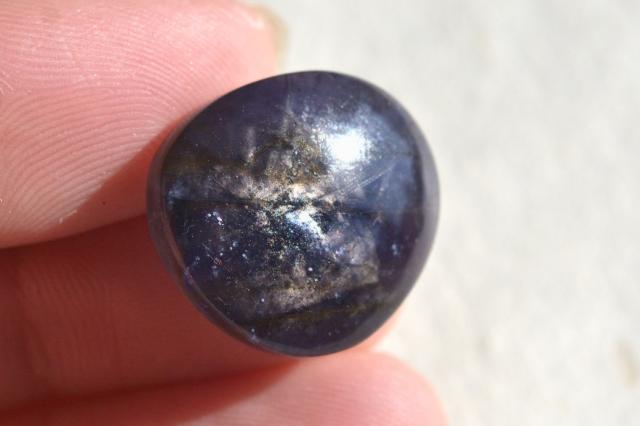 アイオライト(シルバーシーン)【4】天然石ルース・カボション(47.5×25.5mm)