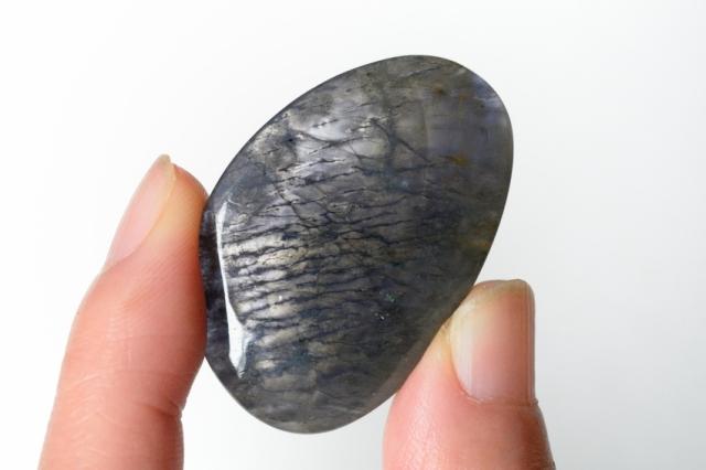 アイオライト(シルバーシーン)【12】天然石ルース・カボション(37.5×25mm)