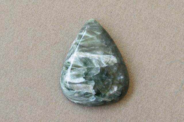 セラフィナイト【3】 天然石ルース・カボション(29×23mm)