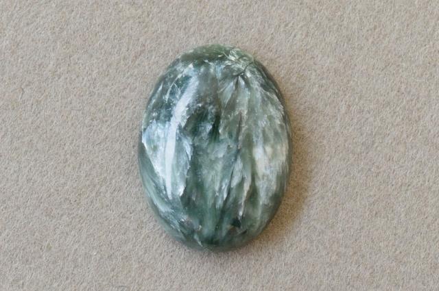 セラフィナイト【10】 天然石ルース・カボション(19×14mm)