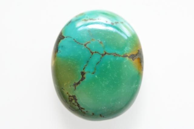 ターコイズ(チベット産)【1】天然石ルース・カボション(29.5×24.5mm)
