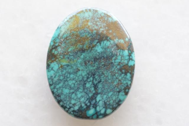 ターコイズ(チベット産)【6】天然石ルース・カボション(26×22.5mm)