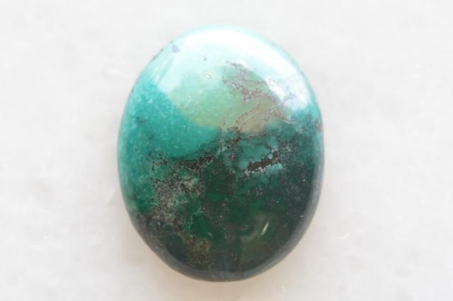 ターコイズ(チベット産)【11】天然石ルース・カボション(27×27mm)