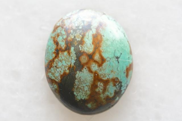ターコイズ(チベット産)【19】天然石ルース・カボション(27.5×20mm)