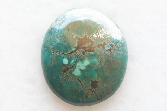 ターコイズ(チベット産)【22】天然石ルース・カボション(24×17mm)