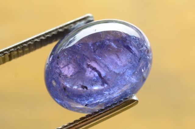 タンザナイト【42】天然石ルース・カボション(13.5×11mm)