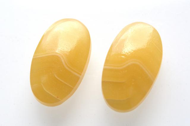 イエローアゲート【2】天然石ルース・カボション (20.5×15.5mm)