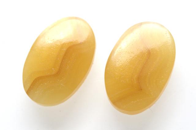 イエローアゲート【3】天然石ルース・カボション (20×15mm)
