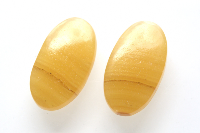 イエローアゲート【4】天然石ルース・カボション (20.5×15.5mm)